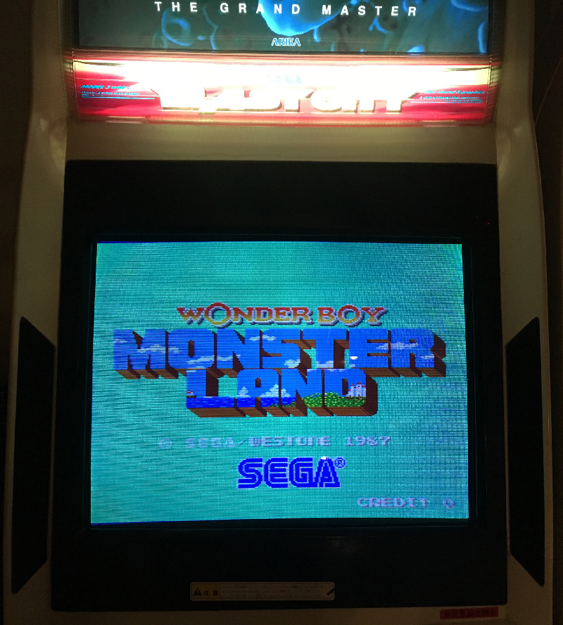 wonderboy in monsterland arcade